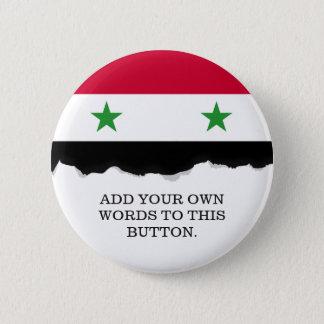 Badge Rond 5 Cm Le drapeau de la Syrie
