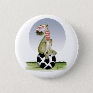 Badge Rond 5 Cm le football de rouges de griffe supérieure