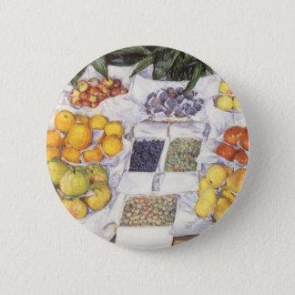 Badge Rond 5 Cm Le fruit se tiennent prêt Gustave Caillebotte, art
