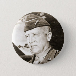 Badge Rond 5 Cm Le Général George Smith Patton