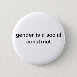 Badge Rond 5 Cm Le genre est un Pin social de construction