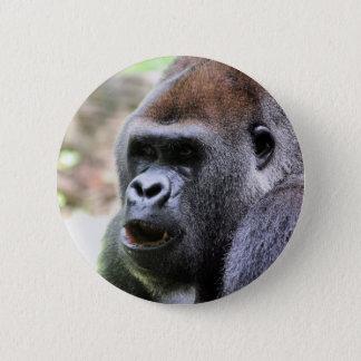 Badge Rond 5 Cm Le gorille indiquent