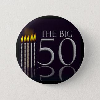 Badge Rond 5 Cm Le grand bouton de 50 anniversaires