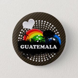 Badge Rond 5 Cm Le Guatemala fruité mignon