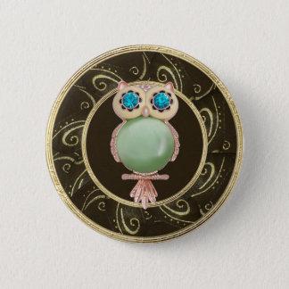 """Badge Rond 5 Cm Le hibou élégant Jewels la touche """"IMPRESSION"""" de"""