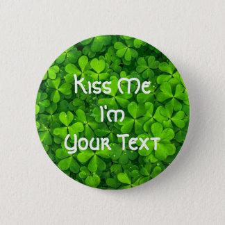 Badge Rond 5 Cm Le jour de St Patrick de feuille de trèfle de