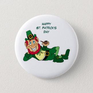 Badge Rond 5 Cm Le jour de St Patrick heureux