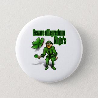 Badge Rond 5 Cm Le jour de St Patrick, ninja de lutin