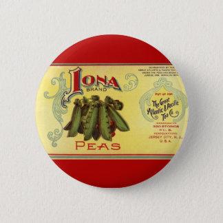 Badge Rond 5 Cm Le légume vintage peut marquer l'art, pois de