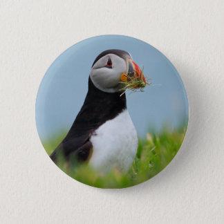 Badge Rond 5 Cm Le macareux de ramasseur