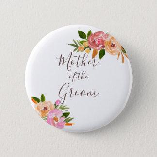 Badge Rond 5 Cm Le mariage de ressort fleurit la mère de la jeune