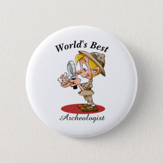 Badge Rond 5 Cm Le meilleur archéologue du monde
