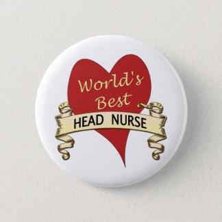 Badge Rond 5 Cm Le meilleur infirmier chef du monde
