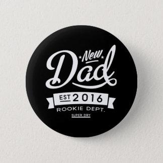 Badge Rond 5 Cm Le meilleur nouveau papa foncé 2016
