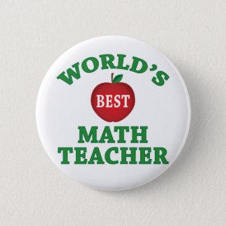 Badge Rond 5 Cm Le meilleur professeur de maths du monde