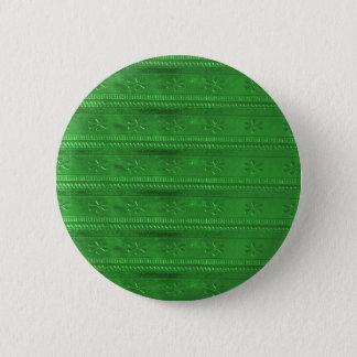 Badge Rond 5 Cm Le modèle vert do-it-yourself de rayures de bijou