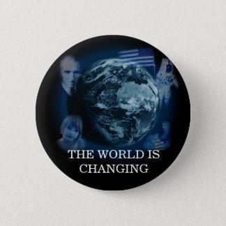 Badge Rond 5 Cm Le monde change le noir de bouton