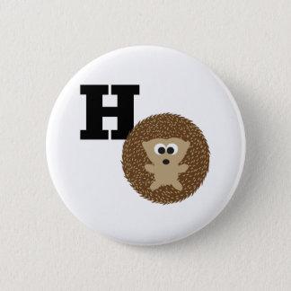 Badge Rond 5 Cm Le monogramme H est pour le hérisson