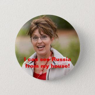 Badge Rond 5 Cm le palin 2 de Sarah, je peux voir la Russie de ma