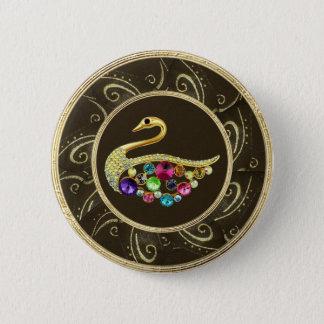 """Badge Rond 5 Cm Le paon élégant Jewels la touche """"IMPRESSION"""" de"""