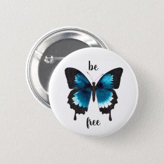 Badge Rond 5 Cm le papillon d'ulysess soit bouton libre