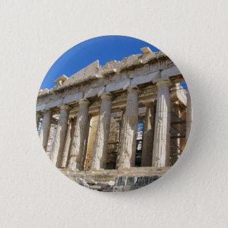 Badge Rond 5 Cm Le parthenon à l'Acropole 447 AVANT JÉSUS CHRIST