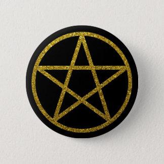 Badge Rond 5 Cm Le pentagramme d'or