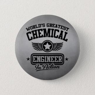 Badge Rond 5 Cm Le plus grand ingénieur chimiste du monde dans