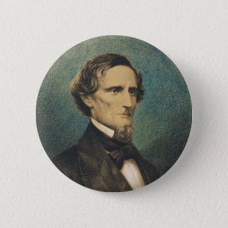 Badge Rond 5 Cm Le Président d'états confédéré Jefferson Davis