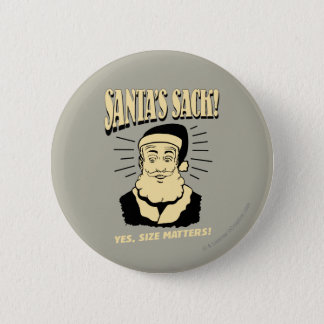 Badge Rond 5 Cm Le sac de Père Noël : Oui, sujets de taille
