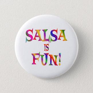 Badge Rond 5 Cm Le Salsa est AMUSEMENT