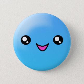 Badge Rond 5 Cm Le sucre de Kawaii pointille le bouton heureux de