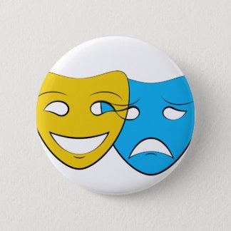 Badge Rond 5 Cm Le théâtre de recouvrement masque le bouton
