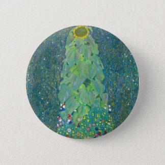 Badge Rond 5 Cm Le tournesol par Klimt, cru fleurit l'art Nouveau