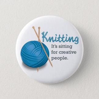 Badge Rond 5 Cm Le tricotage… de lui se repose pour les personnes
