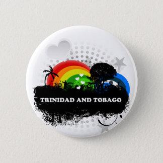 Badge Rond 5 Cm Le Trinidad-et-Tobago fruité mignon