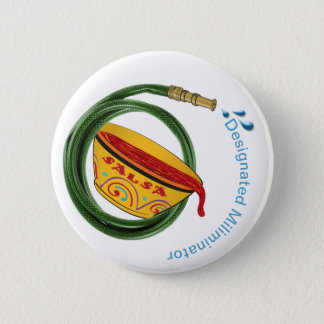 Badge Rond 5 Cm Le tuyau d'arrosage de Luis de saint et le bouton