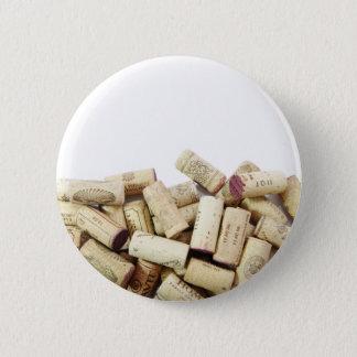 Badge Rond 5 Cm Le vin bouche le bouton