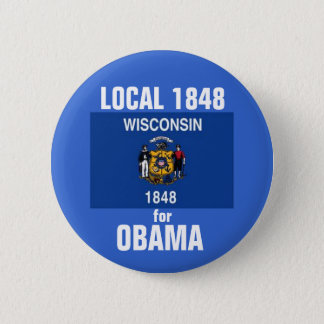 Badge Rond 5 Cm Le Wisconsin pour Obama 2012