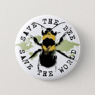 Badge Rond 5 Cm Le yoga parlent : Sauvez les économies d'abeille…