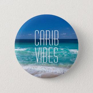 Badge Rond 5 Cm L'eau tropicale de turquoise de plage de