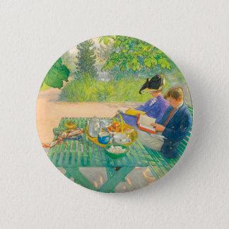 Badge Rond 5 Cm Lecture de vacances par Carl Larsson