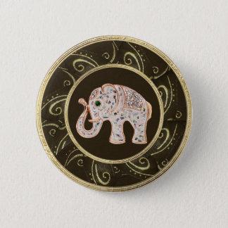 """Badge Rond 5 Cm L'éléphant élégant Jewels la touche """"IMPRESSION"""""""