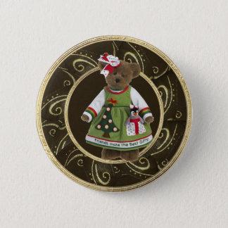 Badge Rond 5 Cm Les amis font le meilleur bouton d'ours de
