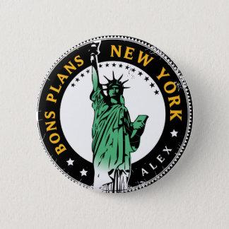Badge Rond 5 Cm Les Bons Plans pour un voyage à New York