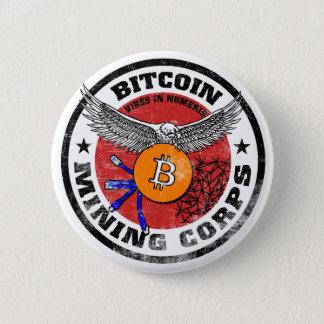 Badge Rond 5 Cm Les corps d'exploitation de Bitcoin - version