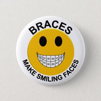 Badge Rond 5 Cm Les croisillons font le bouton de sourire de