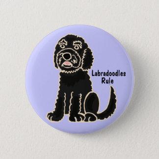 Badge Rond 5 Cm Les EA bouton de règle de Labradoodles