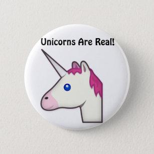 Badge Rond 5 Cm Les licornes sont vrai bouton !