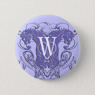 Badge Rond 5 Cm Les lions de bouton de mariage de monogramme
